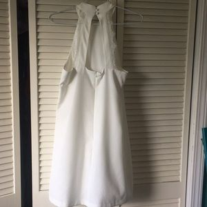 Beautiful white Lulus dress with lace detail